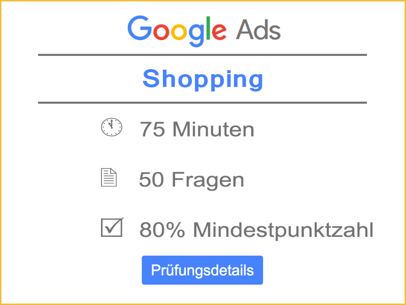 Details Google Ads Shopping